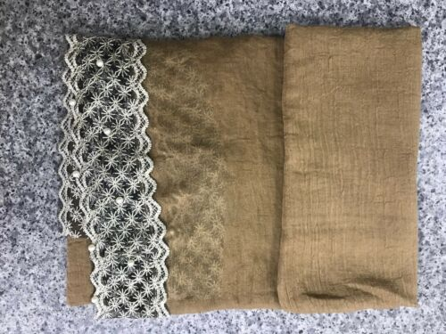 Pearl Hijab Plain WITH SIDE BORDER LACE  PEARL Maxi Scarf