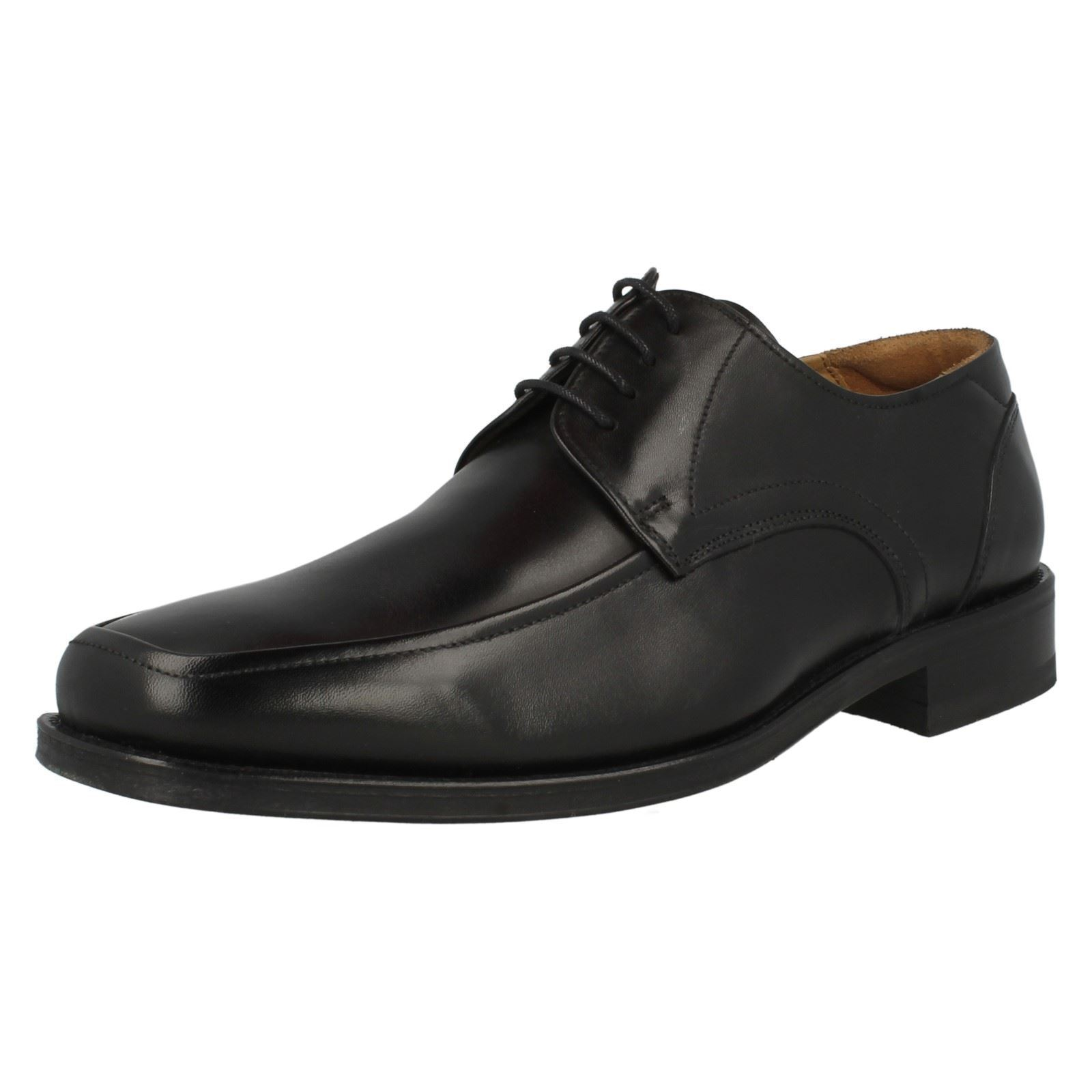Loake Sussex Gents Pelle SQUARE Toed SMART Pizzo Nero Tg