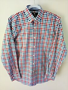 15 Austin Reed Mens Shirt Size S Red White Blue Check Wrinkle Free Ebay