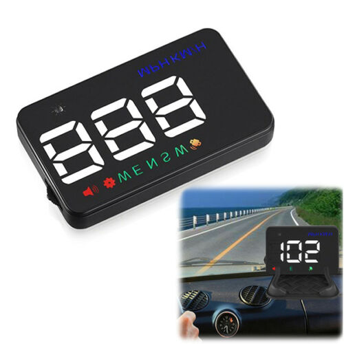A5 GPS HUD Head Up Display Km//h MPH Digital Speedo Warning Alarm Gauges Hot Sale