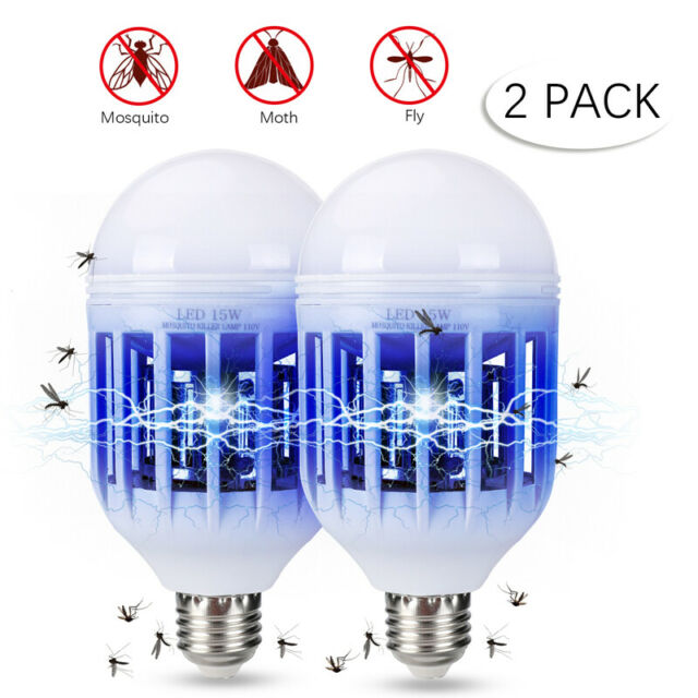 2 in 1 Light Zapper LED Light Bulb Bug Mosquito Fly Insect Killer Lamp Home 15W