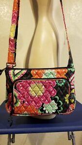 Vera-Bradley-Women-039-s-Little-Hipster-Floral-Crossbody-Purse-Bag-Handbag