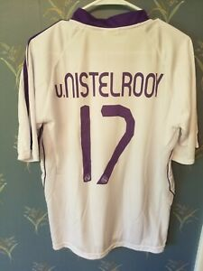 REAL-MADRID-RUUD-VAN-NISTELROOY-SPORT-LIFE-JERSEY-2007-2008-SIZE-Large-L