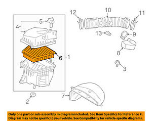 image is loading lexus-toyota-oem-06-15-is350-engine-air-