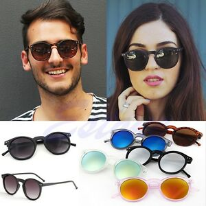 Womens-Mens-Retro-Vintage-Cat-Eye-Sunglasses-Metal-Frame-Unisex-Round-Glasses