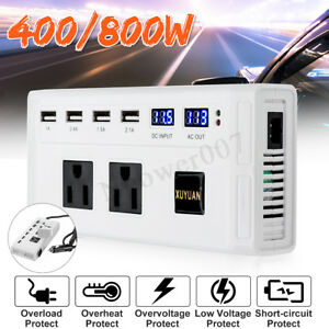 400-800W-Car-Pure-Sine-Wave-Power-Inverter-DC-12V-To-AC-220V-Charger