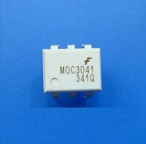 10 PCS OPTOCOUPLER FAIRCHILD//MOTOROLA//QTC DIP-6 MOC3041 MOC3041M UK