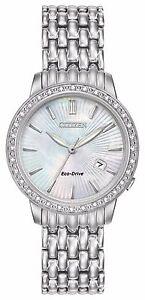 Citizen-Eco-Drive-Women-039-s-Silhouette-Diamonds-Accents-29mm-Watch-EW2280-58D
