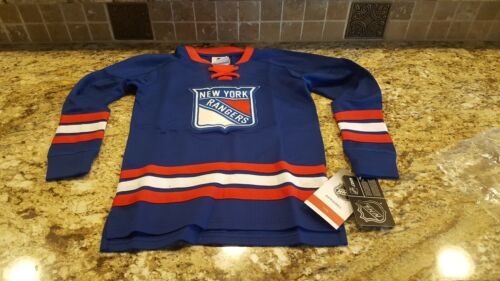 NHL New York Rangers Youth Classic Hockey Jersey Shirt Royal NWT Kids Large 7