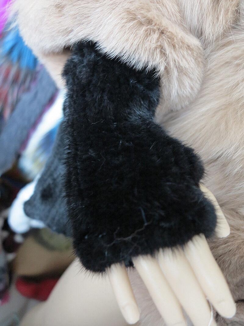 New braid 100% real mink furgloves / fur cover / fur wr
