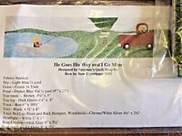 He Goes His Way And I Go Mine Applique Kit-from The 2015 Row By Row