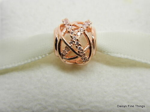 Authentic Pandora Rose Gold Galaxy Swirl Cz Charm Pendant