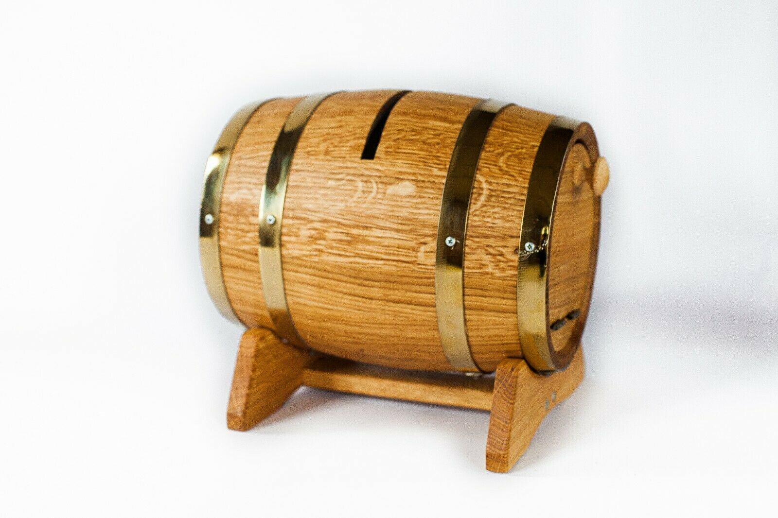 5 L volume Wooden Wooden Wooden wedding barrel post box  - Oak barrel wedding card box 2aca77