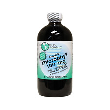 World Organic Chlorophyll Liquid with Spearmint and Gl 100 mg 16 fl oz Liquid