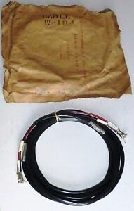 W184-Junction-Cord-3-wire-with-eyelet-10-FT-US-aviation-USAF-NOS-NIB