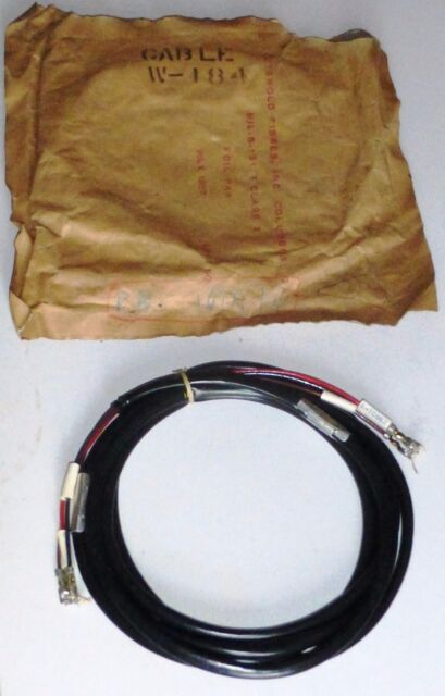 W184 Junction Cord 3 wire with eyelet 10 FT US aviation USAF NOS NIB