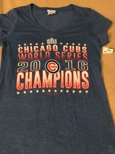 buy online 3be30 0797b Details about 2016 Chicago Cubs World Series Champs Women's T-Shirt Large  NWT