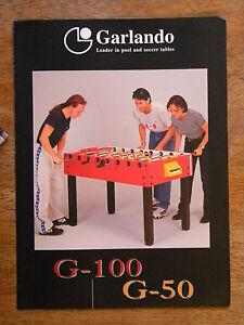 GARLANDO-FOOSBALL-TABLE-BROCHURE-POOL-SOCCER-GAME-VINTAGE-PAPER
