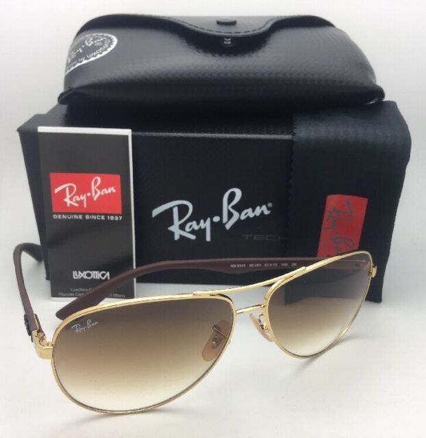 e8b3e76905f9e RAY-BAN Sunglasses TECH SERIES RB 8313 001 51 Gold-Carbon Fiber Aviator