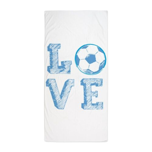 CafePress Love Soccer Beach Towel 81244429