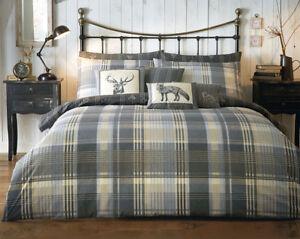 Image Is Loading Brecon Charcoal Duvet Set Super King Size Bedding