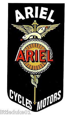 """ARIEL - CYCLES MOTORS"" BSA NORTON TRIUMPH MOTORCYCLE WORKSHOP STICKER DECAL"