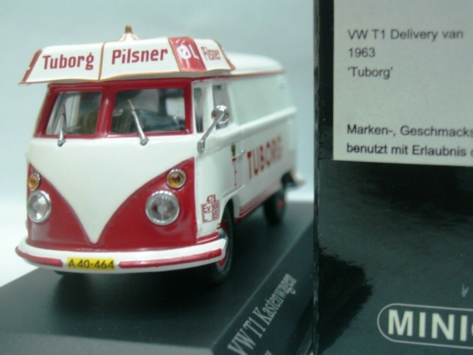 WOW EXTREMELY RARE VW T1 1.5L Delivery Van 1963 Tuborg 1 43 Minichamps-T2 T5