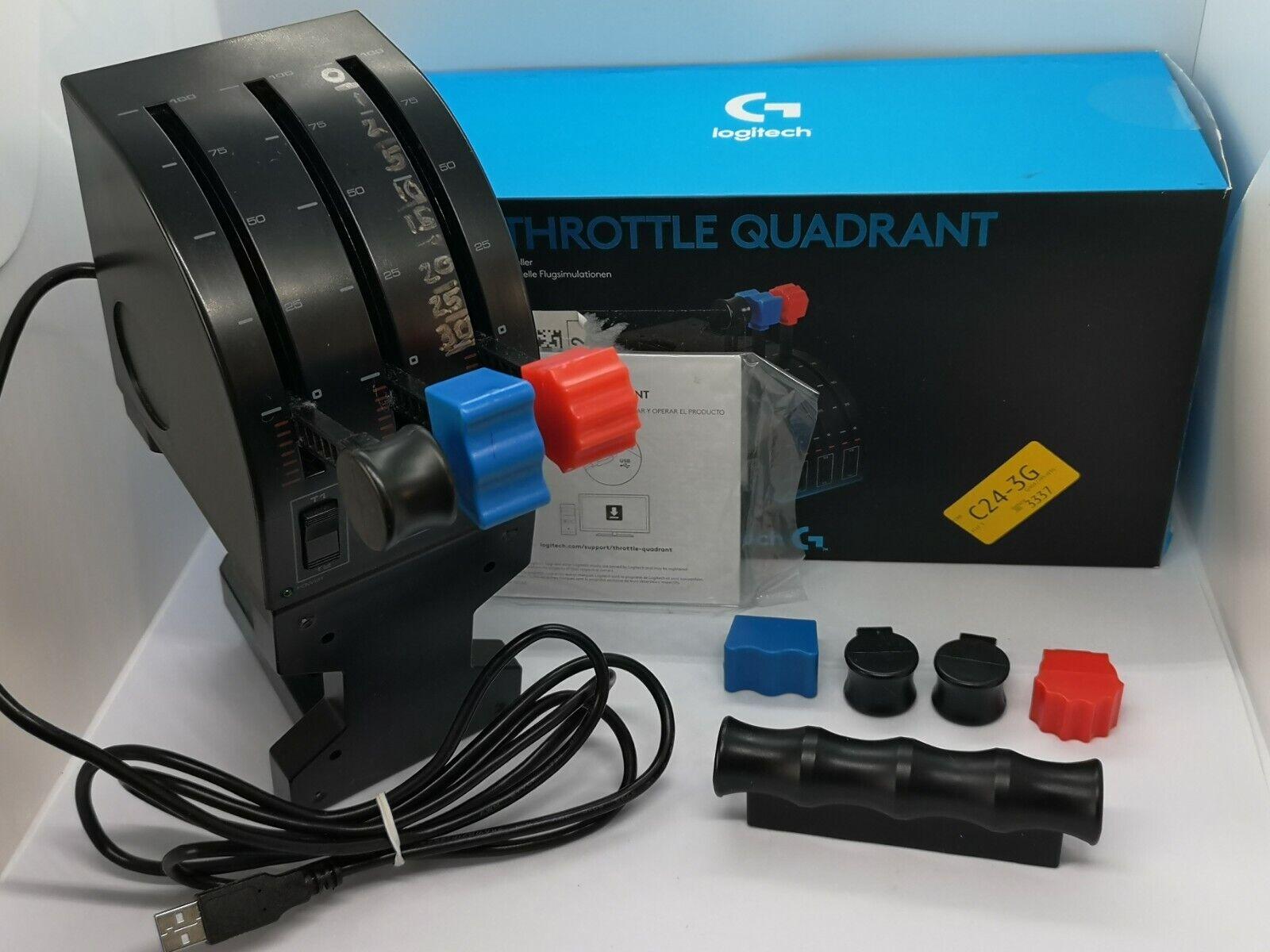 Logitech 945-000015 Flight Throttle Quadrant Professional Simulation Axis Lever
