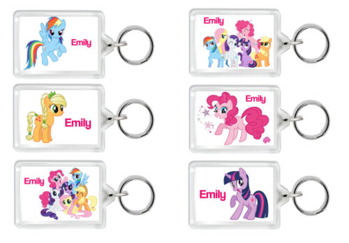 PERSONALISED LITTLE PONY KEYRING TAGS-Great Gifts-Birthdays//Weddings//Anniversary