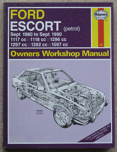 Ford Escort Haynes Manual New 686 80 90 Mint Free Uk P P Ebay