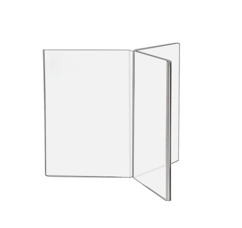 """4""""W x 6""""H Clear 6 Sided Table Sign Holder Ad Frame Menu Dislay Stand Acrylic"""