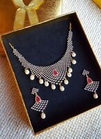 Beautiful Wedding Statement Necklaces Set With Pearls Great Quality Best Finish