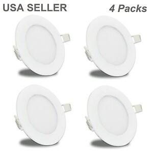 new styles a0bbf f65e1 Details about Facon 4Pcs 4'' LED Recessed Puck Light RV Interior Down Light  Warm White 12V DC