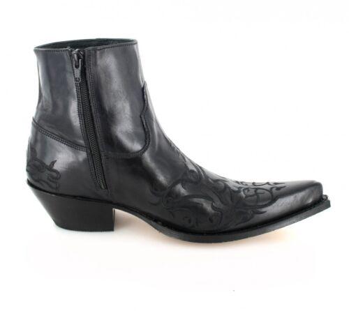 Sendra Boots Schwarz 7216 Cowboystiefelette Westernstiefelette rXXAZU4q