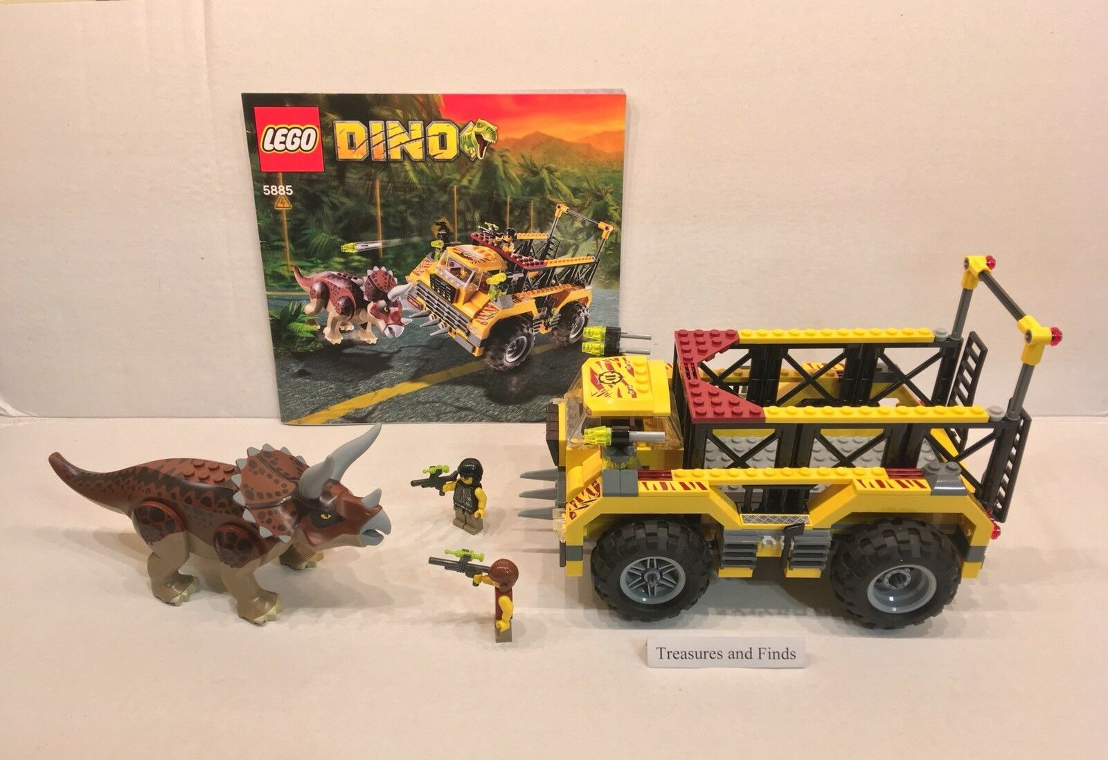 Lego Dino Dinosaure 5885 Triceratops Trapper complet W Instructions, sans boîte
