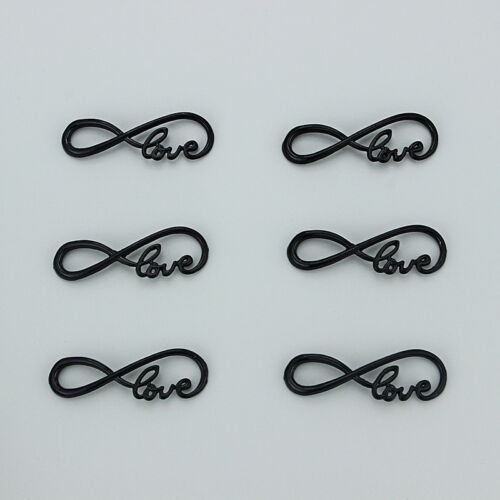 15Pcs Black Love Infinity Connector Charms Jewelry Findings For Bracelet Making