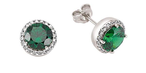 Intelligent Smaragd Ohrringe Cluster Stecker Sterlingsilber Stecker Platinplatte Zur Verbesserung Der Durchblutung