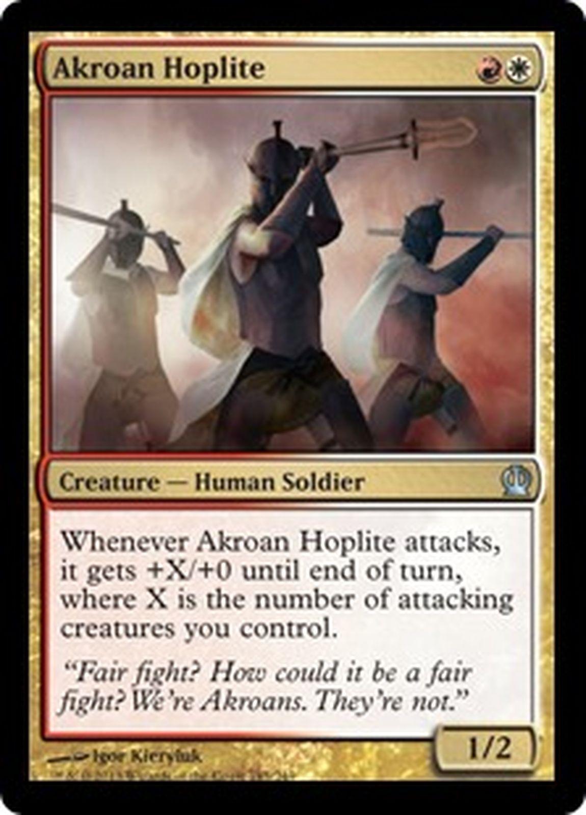 4 Akroan Hoplite ~ Gold Theros Mtg Magic Uncommon 4x x4
