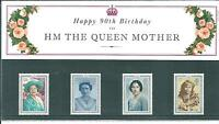 wbc. - GB - PRESENTATION PACK - 1990 - 90th BIRTHDAY - QUEEN MOTHER