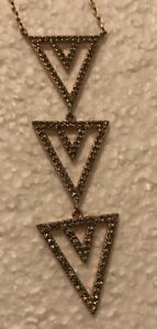 STELLA-AND-DOT-Rose-Gold-Pave-Micro-Crystal-Dangle-Necklace