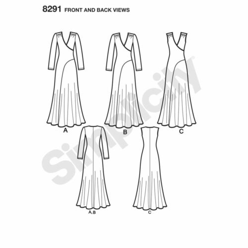 Simplicity SEWING PATTERN 8291 Misses//Womens Maxi Dress 10-18 Or 20W-28W