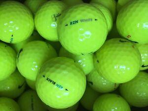 Nike Rzn Black >> Details About Yellow Nike Rzn Black White Golf Balls Grade Pearl A Lake Balls 24 48