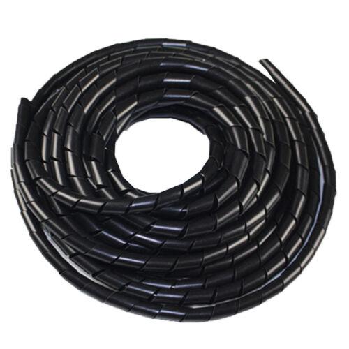 LC /_ 4-30mm Resistente Cable Negro Cinta Helicoidal Encamisado Banda Tubo Cable
