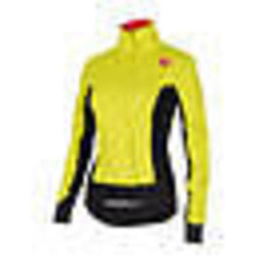 Castelli alphaw Veste Pour Femme Cyclisme Veste Vent Veste Jaune petit NEUF