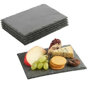 VonShef-Slate-Cheese-Board-Set-of-6-Platter-Plates-Party-Cheese-Dessert-Trays