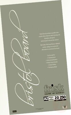 250gsm White Smooth Card. A2 Bristol Board A2 420 x 594mm Loose Leaf