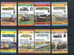 D124130 Trains Locomotives MNH Saint Lucia