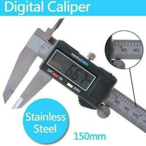 150mm/6inch Stainless Steel Digital Electronic Gauge Vernier Caliper Micrometer