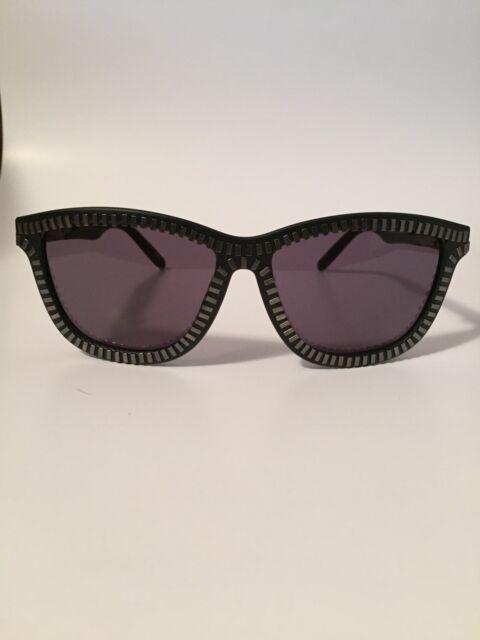 2b31b7dcf42 NWT ALEXANDER WANG X LINDA FARROW sunglasses ZIPPER Black   Silver case new  ...