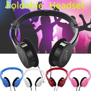 Foldable-Wire-Headphones-Ear-Stereo-Headset-Kids-Game-Sport-Stereo-Earphone-UK